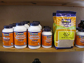 NOW Supplements on shelf in shop