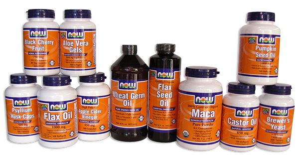 Our supplements and foods focm from NOW Foods.